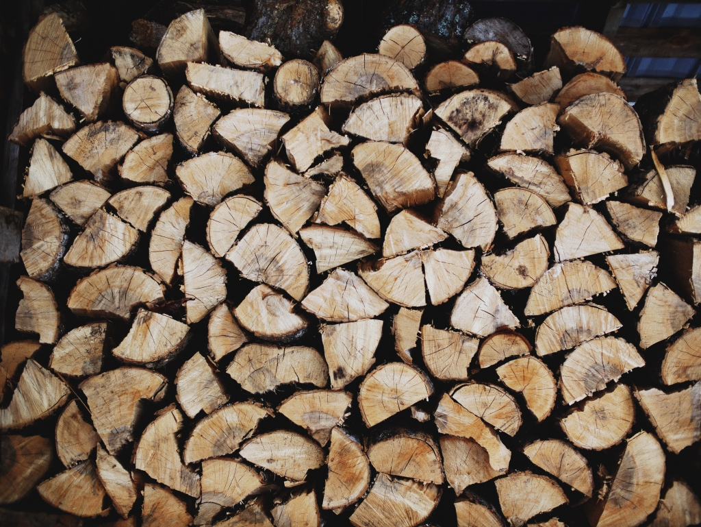 Kiln dried logs at Stourton Estates