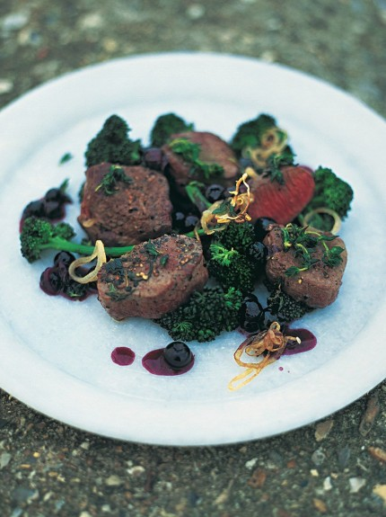 Venison fillet steaks